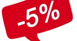 Скидка 5% при наличном расчете